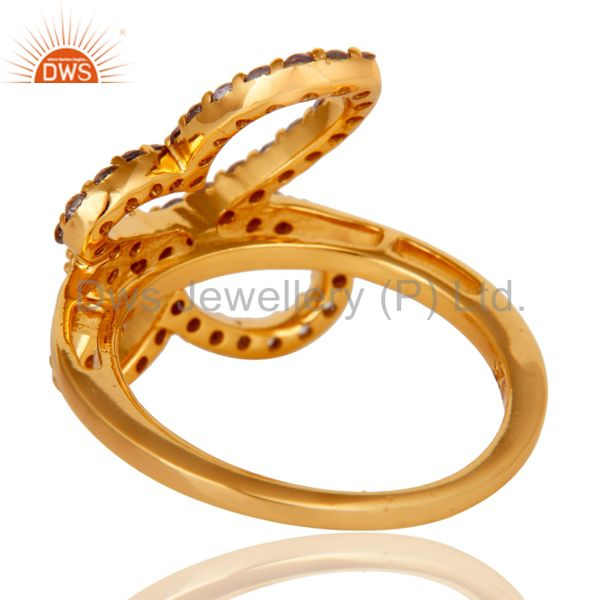 Suppliers Tanzenite and 18K Gold Plated Sterling Silver Butterfly Design Ring