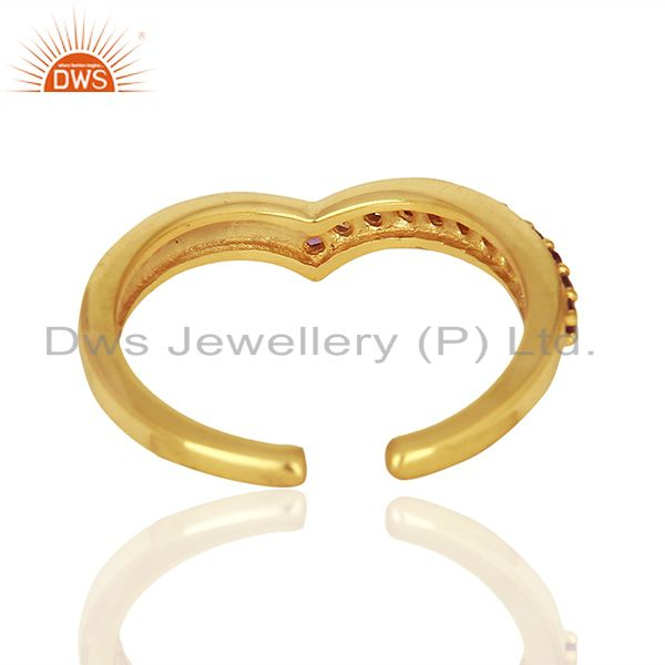 Suppliers Amethsyt Birthstone Gold Plated 925 Silver Midi Rings Manufacturers