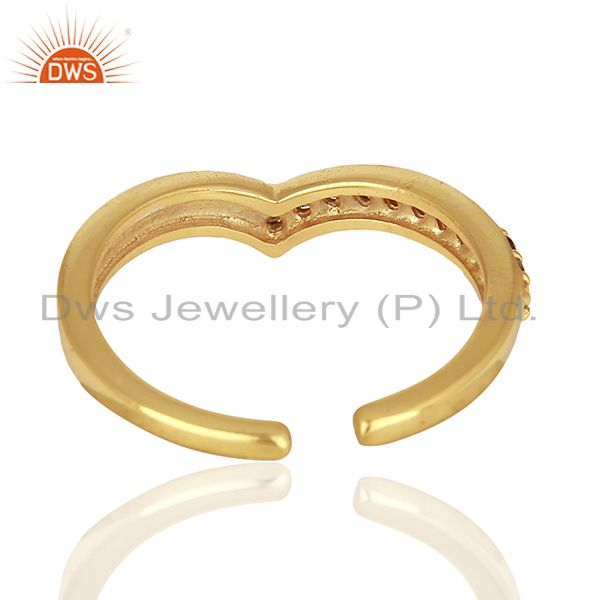 Suppliers Smoky Quartz Gemstone 925 Silver Gold Plated Rings Jewelry Supplier