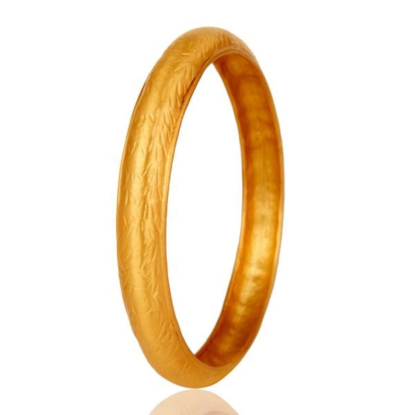Wholesalers of 18k gold plated traditional handmade design brass bangle jewellery