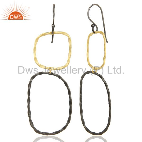 Suppliers Black Oxidized 14K Gold Plated Traditional Handmade Fashion Dangle Earrings