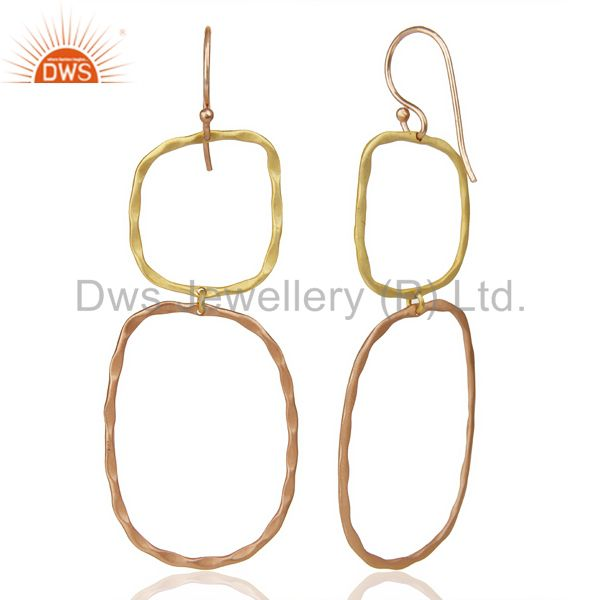 Suppliers 14k Multi Gold Plated Traditional Handmade Dangle Fashion Jewelry Earrings