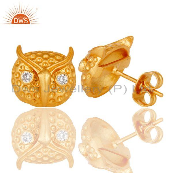 Suppliers Customized Design Gold Plated Fashion Brass Stud Earrings Manufacturer