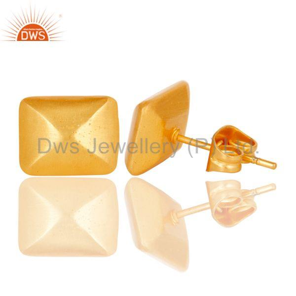 Suppliers 18k Gold Plated Handmade Traditional Stud Brass Earrings Jewellery