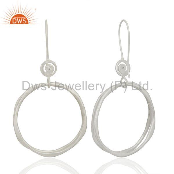 Suppliers White Zircon Hoop Dangle Brass Fashion Earrings Gemstone Jewelry
