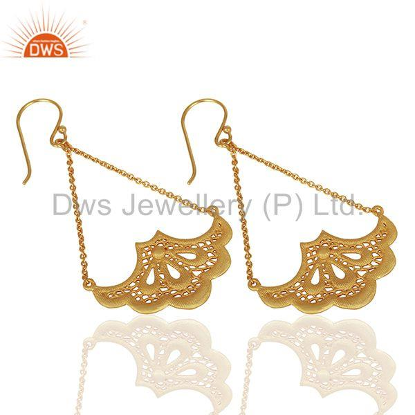 Suppliers Fashion Handbag Design Traditional Brass Earrings with 18k Gold Plated