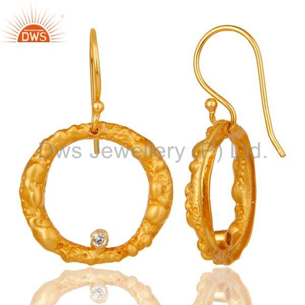 Suppliers Lava Designer Gold Plated Simple Hoop Earring