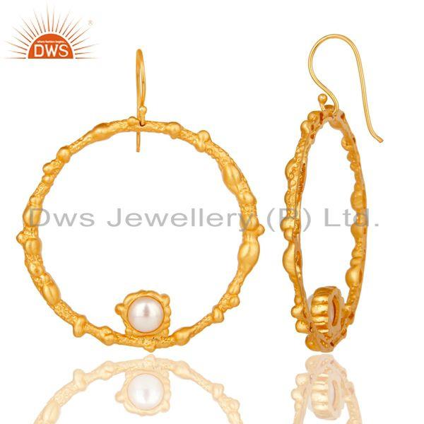 Suppliers Pearl Studded Designer Lava Round Fashion Earring