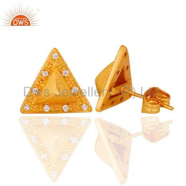 Suppliers Triangle Post Fashion Geometry Czz Studded Gift Wholesale Earring