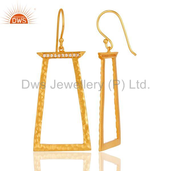 Suppliers Handmade Brass Gold Plated Fashion Cz Earrings Jewelry Suppliers