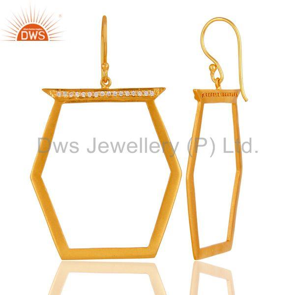 Suppliers Handmade Brass Gold Plated Cz Fashion Earrings Jewelry Wholesale