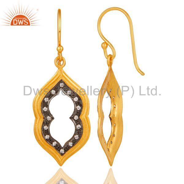 Suppliers Handmade Gold Plated Brass Fashion Gemstone Earrings Manufacturers