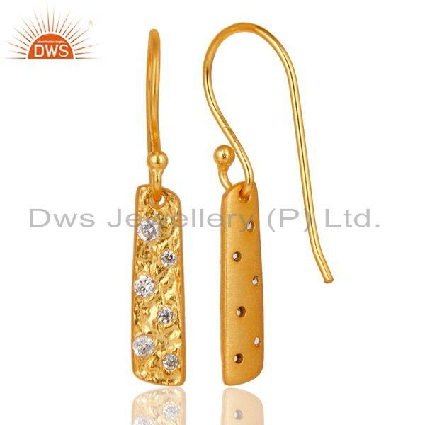 Suppliers Handmade 18k Gold Plated Brass Fashion Zircon Earrings Manufacturer
