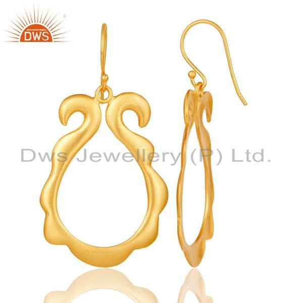 Suppliers Traditional Handmade Brass Earrings with 18k Gold Plated