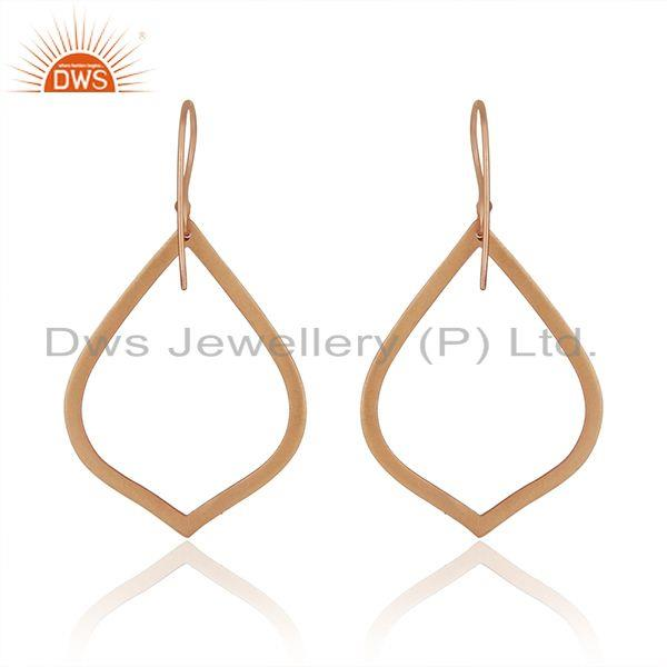 Suppliers Rose Gold Plated Brass Fashion Handmade Earrings Manufacturers