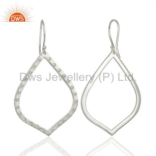 Suppliers Silver Plated Brass Handmade Dangle Earrings Jewelry Manufacturer