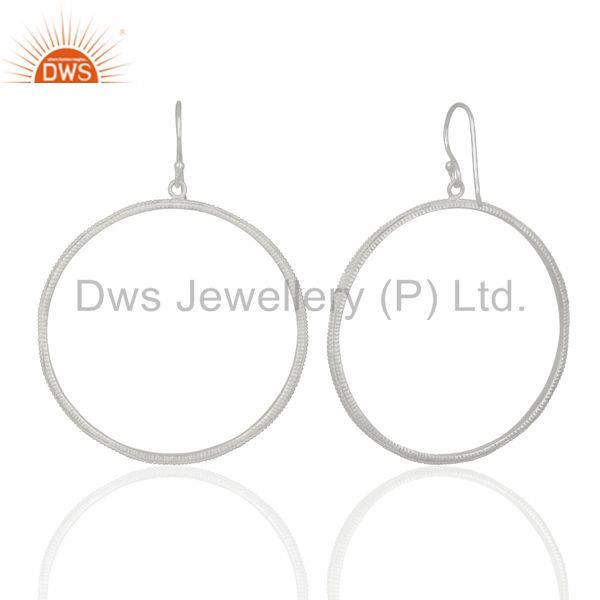Suppliers Round Brass Silver Plated Handmade Earrings Jewelry Manufacturers