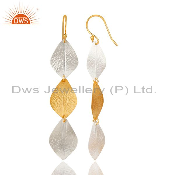 Suppliers 14K Rose Gold Plated 925 Sterling Silver Handmade Fashion Dangle Brass Earrings