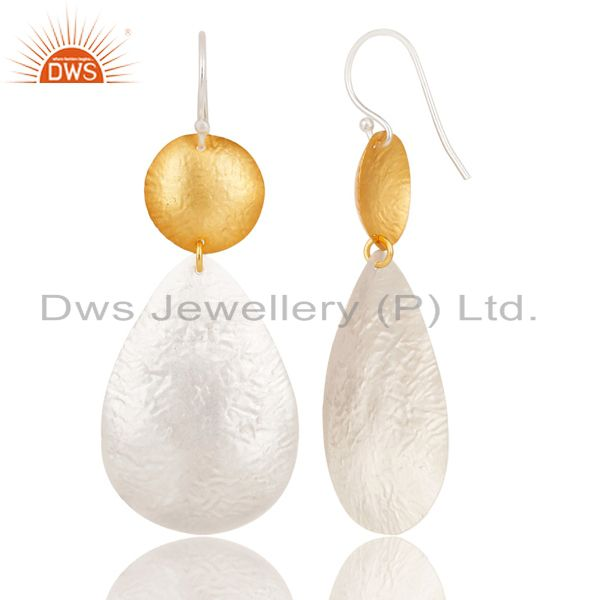 Suppliers Handmade New Design Brass Drops Earrings Made In 14K Gold & Silver Plated
