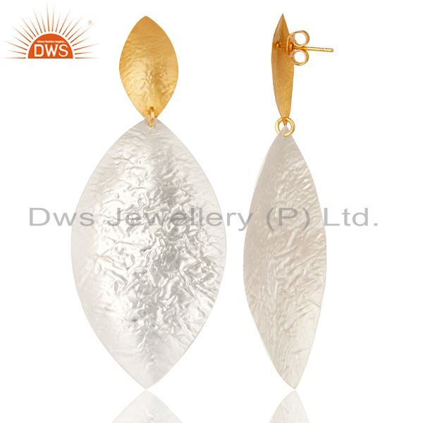 Suppliers Beautiful Handmade Brass Drops Earrings Made In 14K Gold & Silver Plated