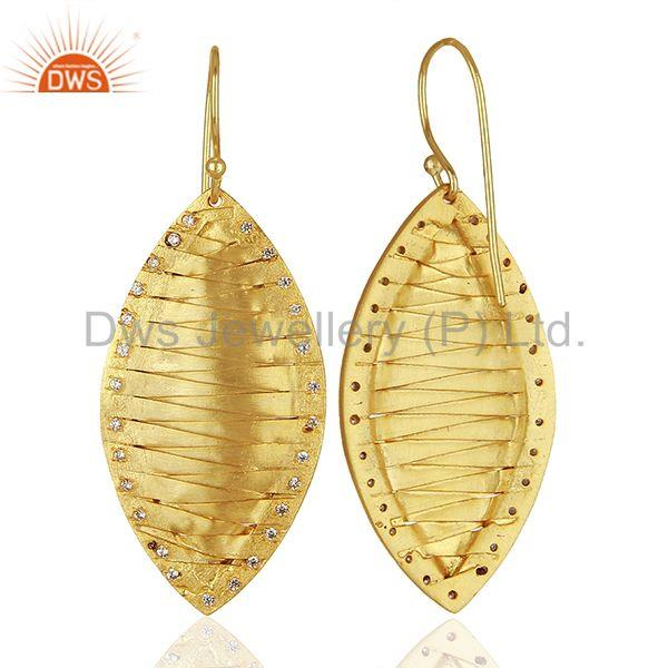 Suppliers Hancrafted Brass Gold Plated Dangle Fashion Earrings Manufacturers