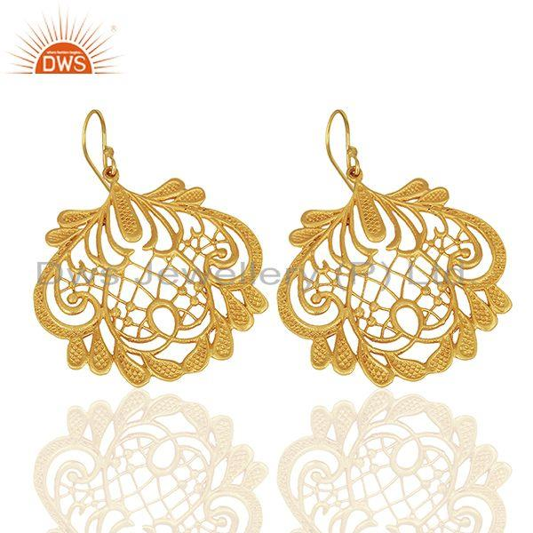 Suppliers Wholesale Gold Plated Brass Traditional Earrings Jewelry Manufacturers