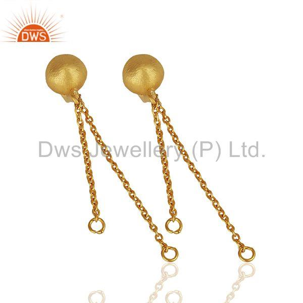 Suppliers Handmade Gold Plated Brass Fashion Jewelry Findings Manufacturers
