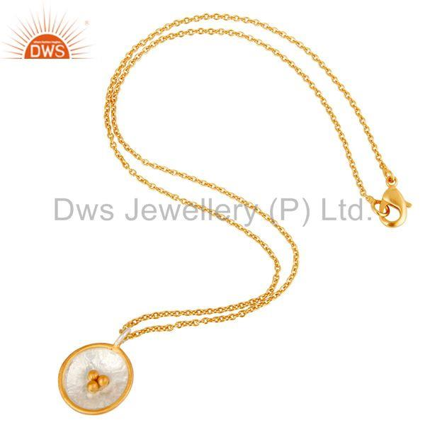 Suppliers Traditional Handmade Art Deco 18K Gold Plated Brass Chain Pendant Necklace