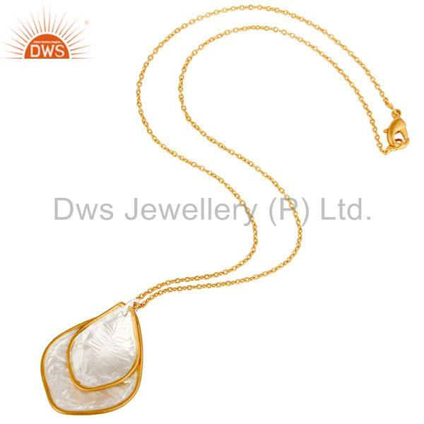 Suppliers Traditional Handmade 18K Yellow Gold Plated Simple Setting Brass Chain Pendant