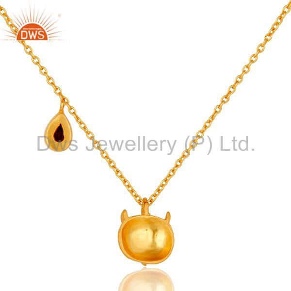 Suppliers Customized Owl Design Gold Plated Brass Fashion Chain Pendant Supplier