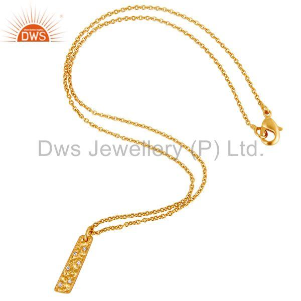 Suppliers 18K Yellow Gold Plated Traditional Handmade Charm Brass Chain Pendant Neklace