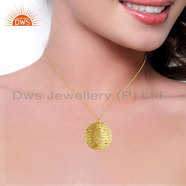 Suppliers Handmade Brass Gold Plated Fashion Pendant Jewelry Manufacturers