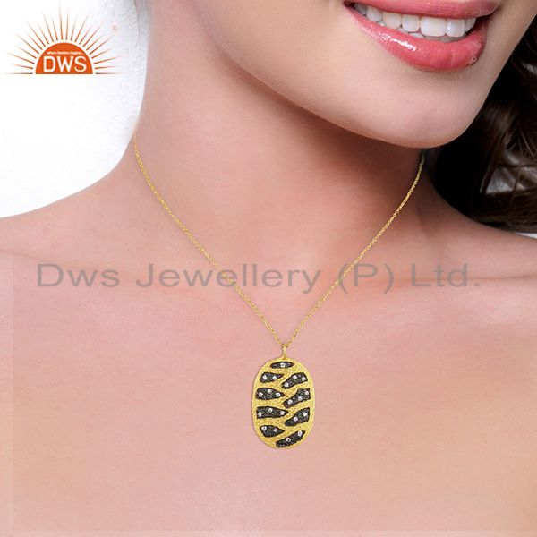 Suppliers Handcrafted Brass Gold Plated Fashion Chain Pendant Wholesale