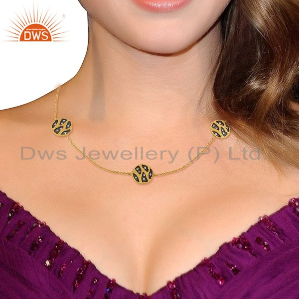 Suppliers Indian Traditional Gold Plated Women Wedding Wear Necklace Jewelry