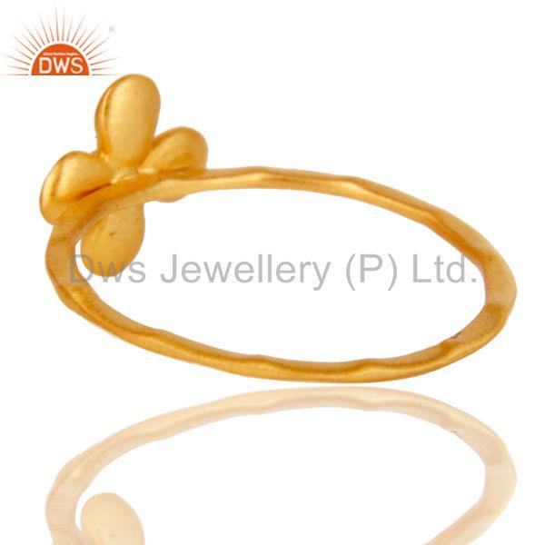 Suppliers Lovely 18k Gold Plated Traditional Handmade Brass Stackable Ring