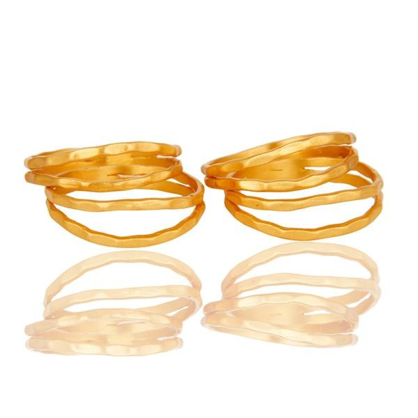 Suppliers Traditional Handmade Roll Design Brass Ring with 18k Gold Plated Jewellery