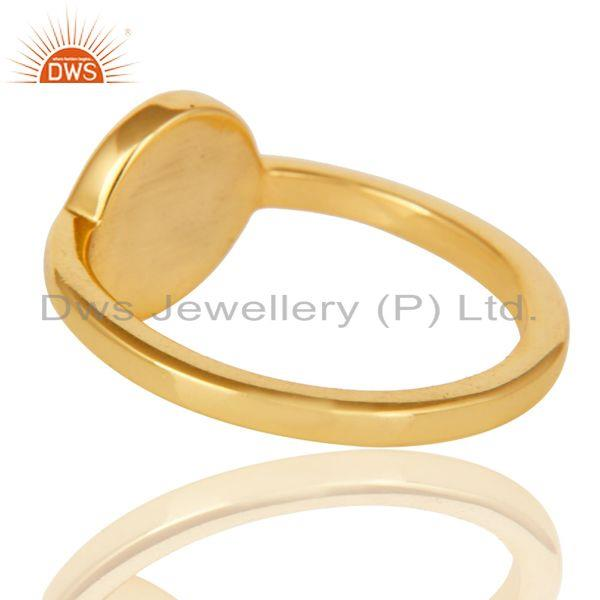 Suppliers 18k Yellow Gold Plated Traditional Handmade Black Enamel Brass Ring Jewellery