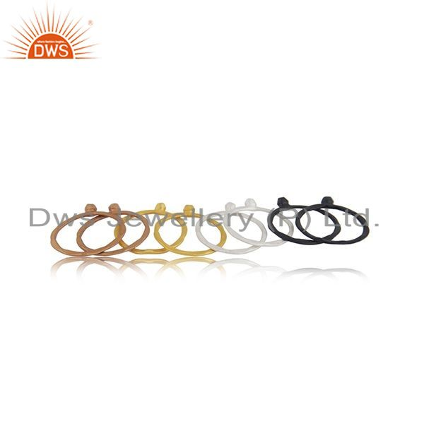 Suppliers Multi Plated Handmade Sterling SIlver CZ Ring Jewelry Manufacturer