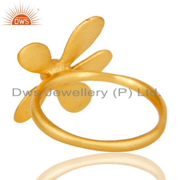 Suppliers Gold Plated 925 Streling Silver Zircon Flower Ring Jewelry Supplier