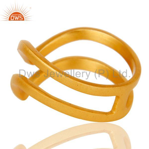 Suppliers Chevron Designer Gold Plated Fashion Ring
