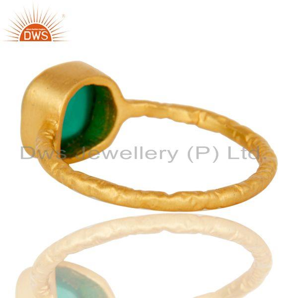 Suppliers Green Onyx cushion Studded Designer Stackalble Fashion Ring