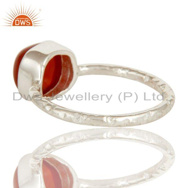 Suppliers Red Onyx cushion Studded Designer Stackalble Fashion Ring