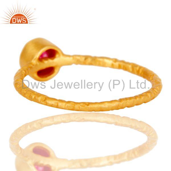 Suppliers Red Quartz studded Simple Setting Fashion Ring