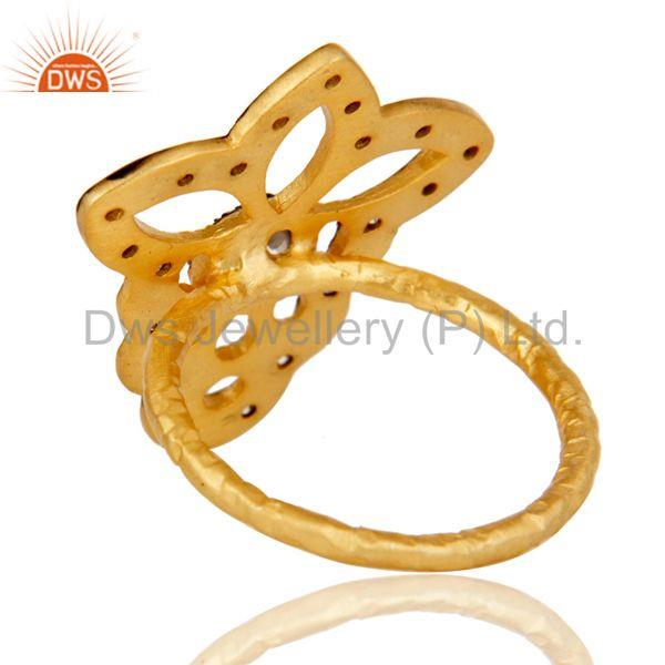 Suppliers Butterfly Designer Cz Studded Designer Fashion Ring