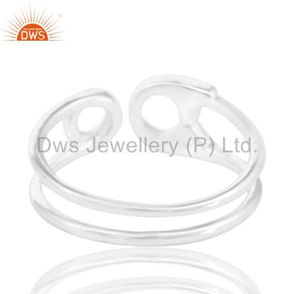 Suppliers Plain Fine Sterling 92.5 Silver New Designer Rings Manufacturers