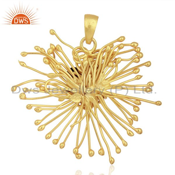 Supplier of Black Onyx Unique One Time Flower Gold Pendent Boutique Jewelry In Jaipur