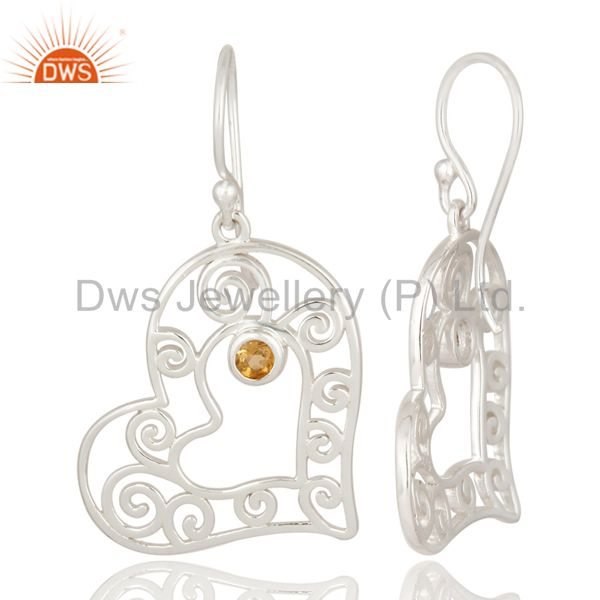 Suppliers Citrine Heartshape 92.5 Sterling Silver Wholesale Jewelry supplier
