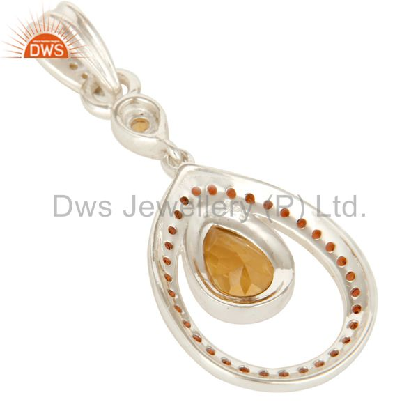 Suppliers 925 Sterling Silver Garnet And Citrine Gemstone Designer Pendant