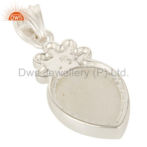 Suppliers 925 Solid Sterling Silver Rainbow Moonstone Designer Pendant Jewelry