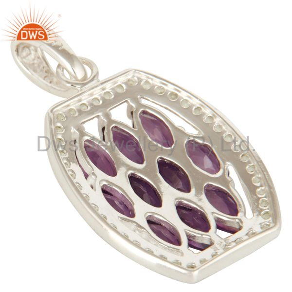 Suppliers 925 Sterling Silver Amethyst And Peridot Gemstone Pendant Jewelry